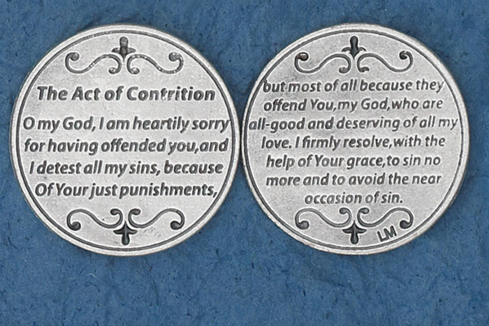 Act of Contrition Pocket Token